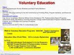 voluntary education