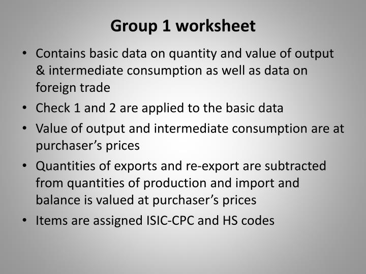 Group 1 worksheet