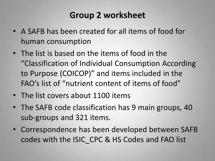 Group 2 worksheet
