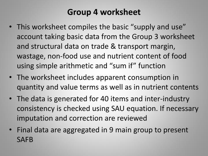 Group 4 worksheet
