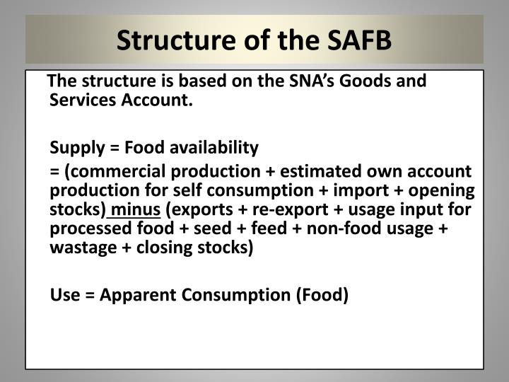 Structure of the SAFB