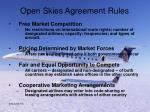 open skies agreement rules