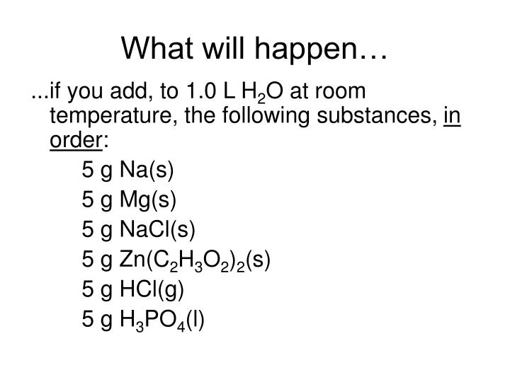 What will happen…