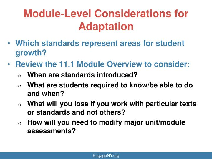 Module-Level Considerations
