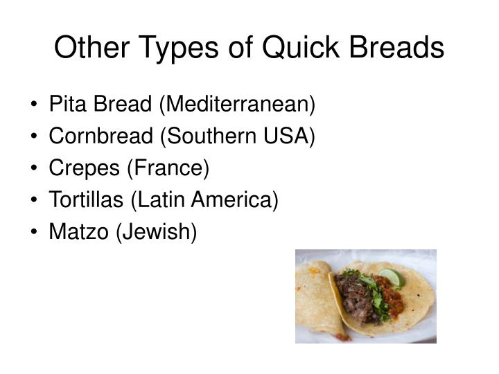 Other Types of Quick Breads