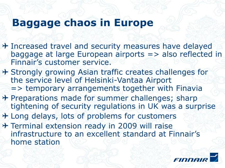 Baggage chaos in Europe