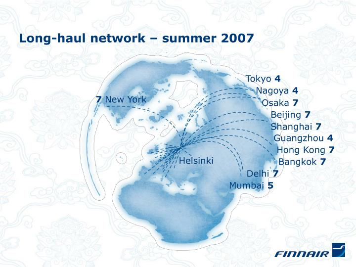 Long-haul network – summer 2007