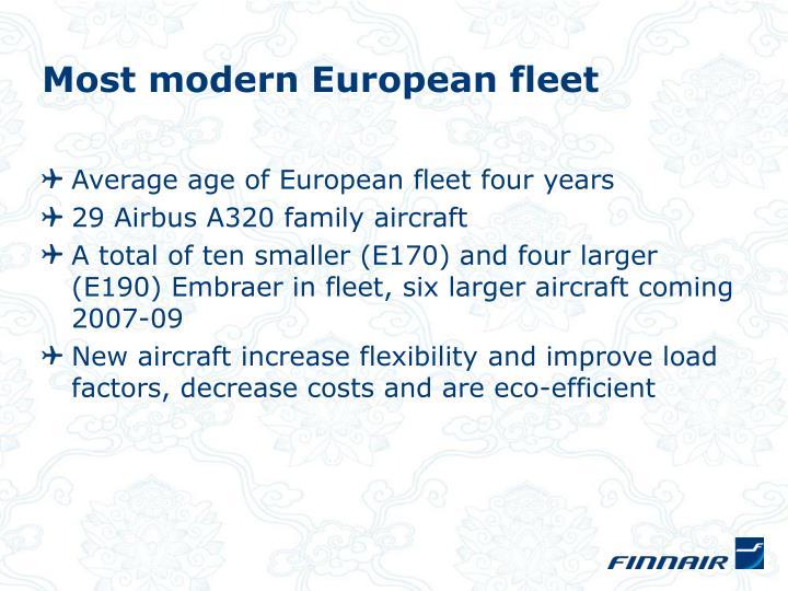 Most modern European fleet