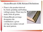 grains breads g b related definitions2