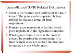grains breads g b related definitions3