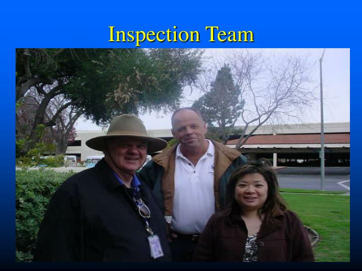 Inspection team