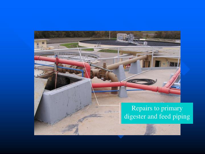 Repairs to primary digester and feed piping