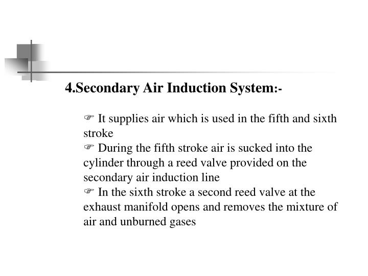 4.Secondary Air Induction System