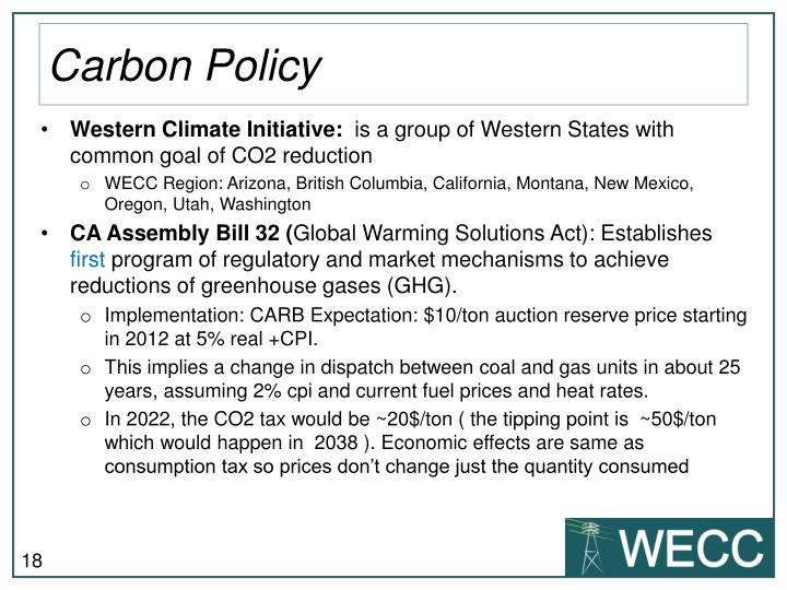 Carbon Policy