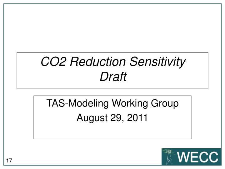 CO2 Reduction Sensitivity