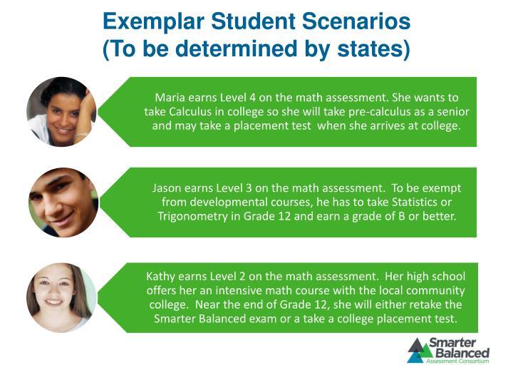 Exemplar Student Scenarios