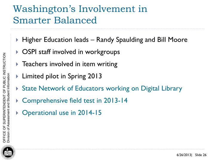 Washington's Involvement in