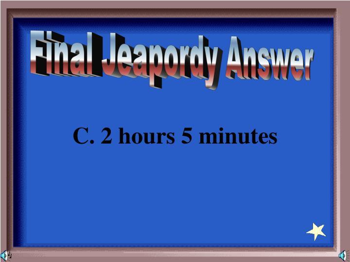 Final Jeapordy Answer