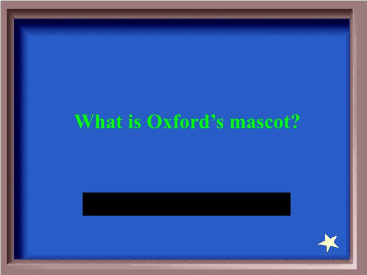 What is Oxford's mascot?