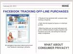 facebook tracking off line purchases