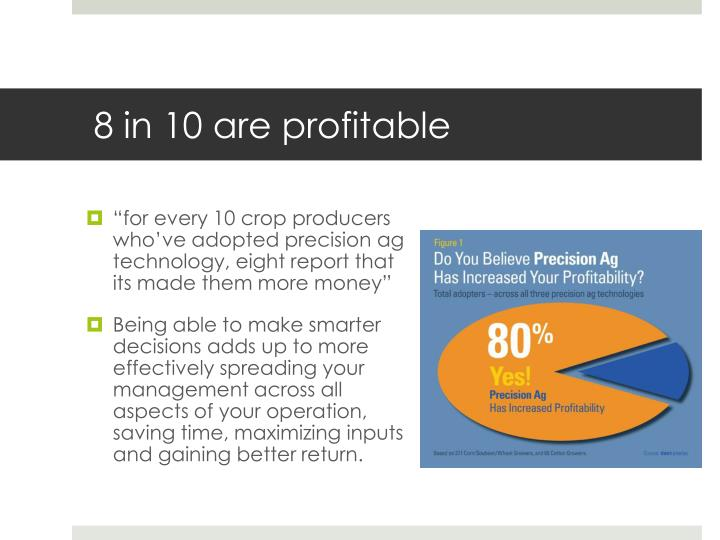 8 in 10 are profitable