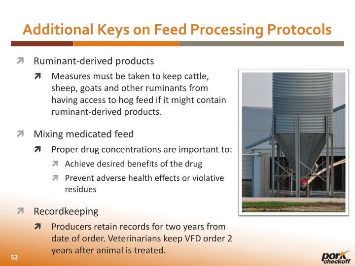 Additional Keys on Feed