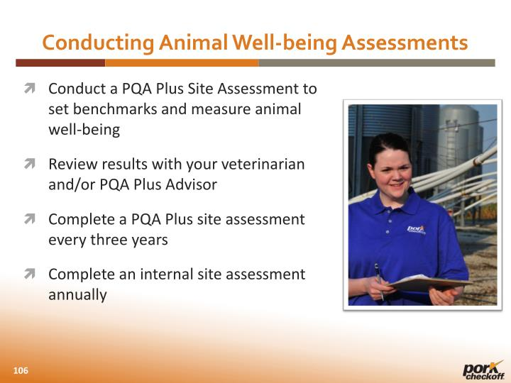 Conducting Animal Well-being