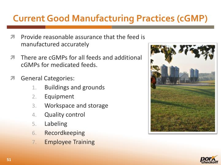 Current Good Manufacturing