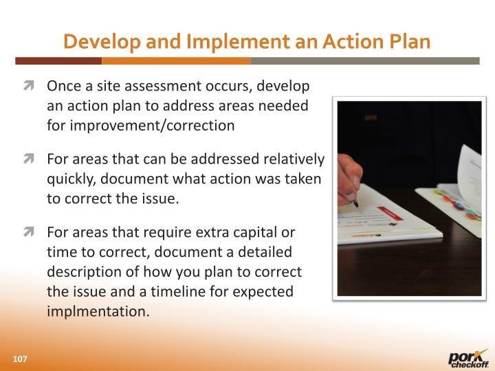 Develop and Implement an Action Plan