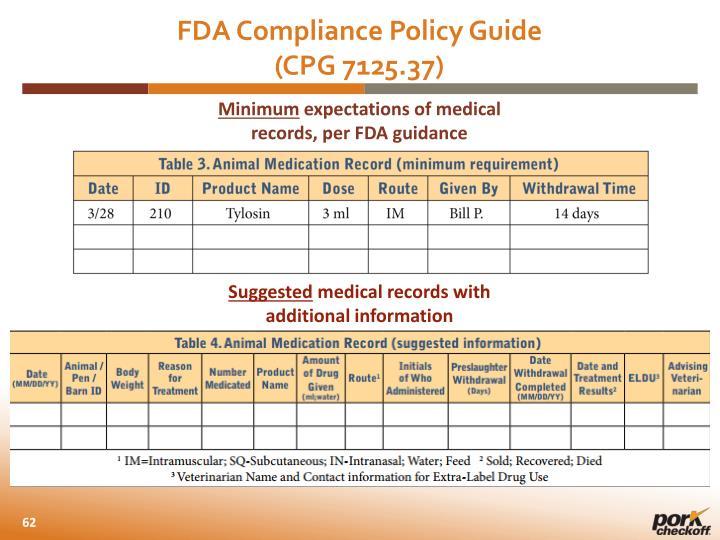 FDA Compliance Policy Guide