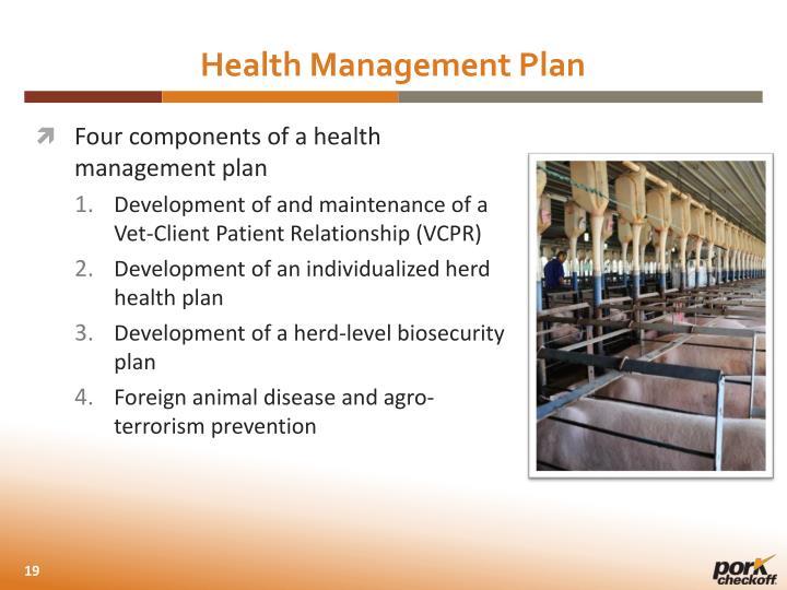 Health Management Plan