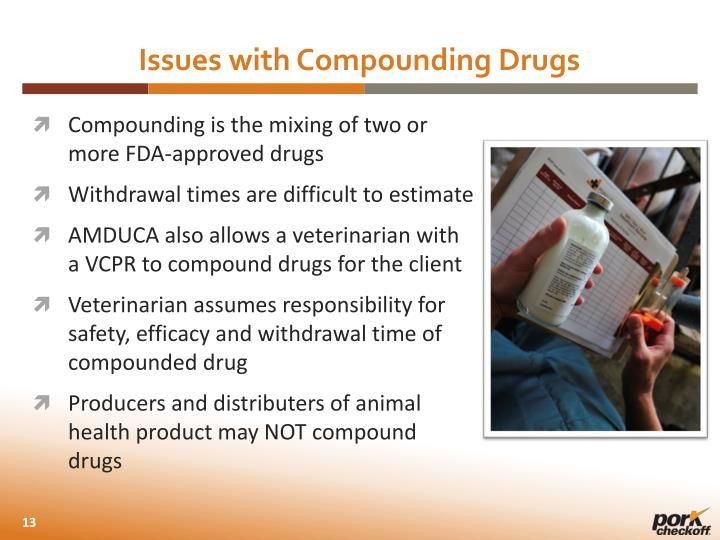 Issues with Compounding Drugs