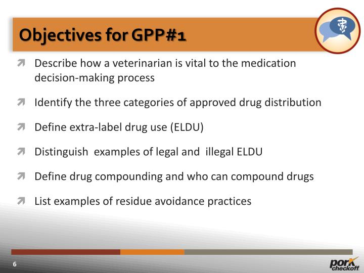 Objectives for GPP#1