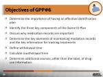 objectives of gpp 6