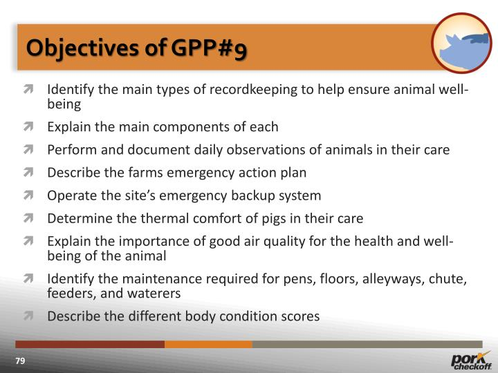 Objectives of GPP#9