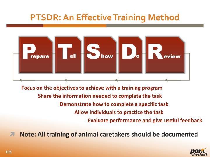 PTSDR: An Effective Training Method