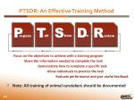 ptsdr an effective training method