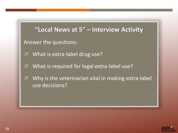 """""""Local News at 5"""" – Interview Activity"""