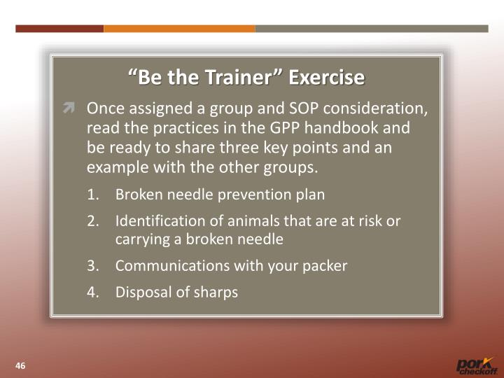 """""""Be the Trainer"""" Exercise"""