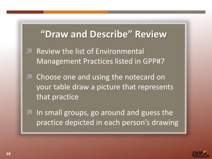 """""""Draw and Describe"""" Review"""