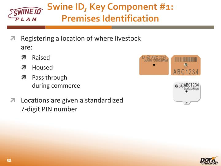 Swine ID, Key