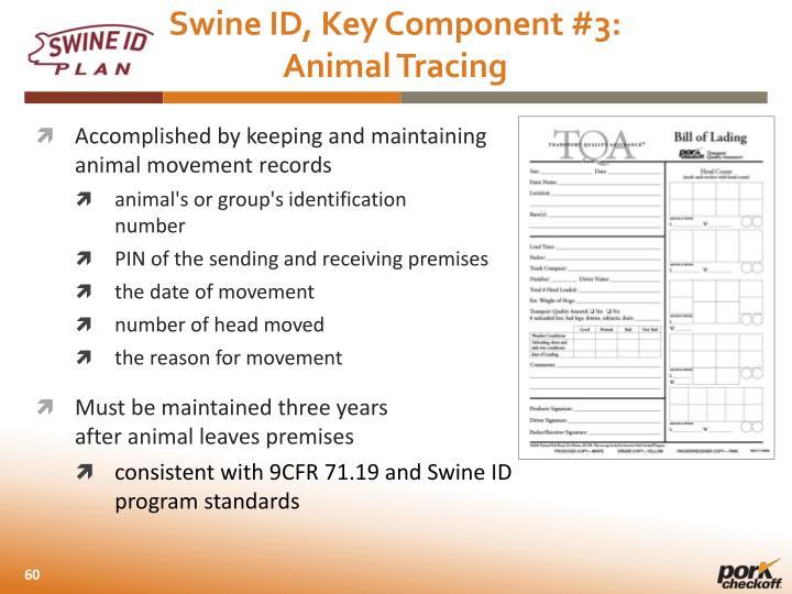 Swine ID,
