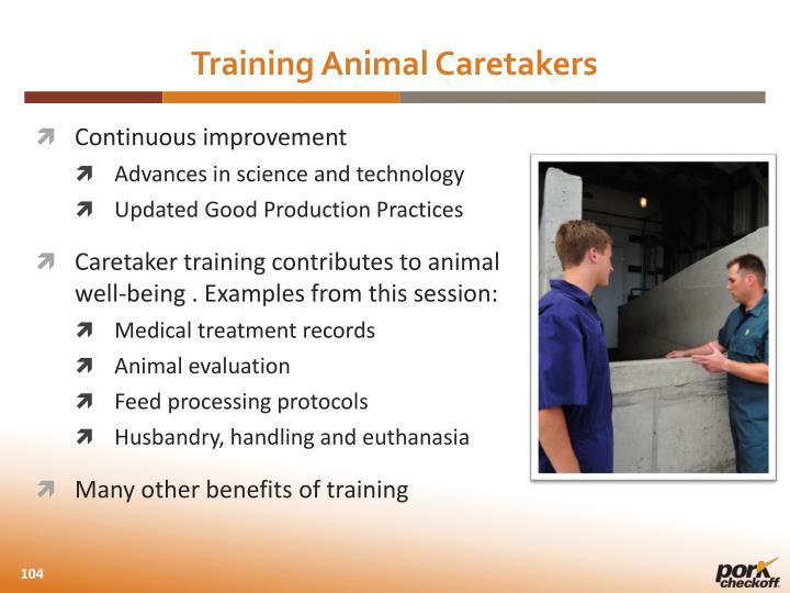 Training Animal Caretakers
