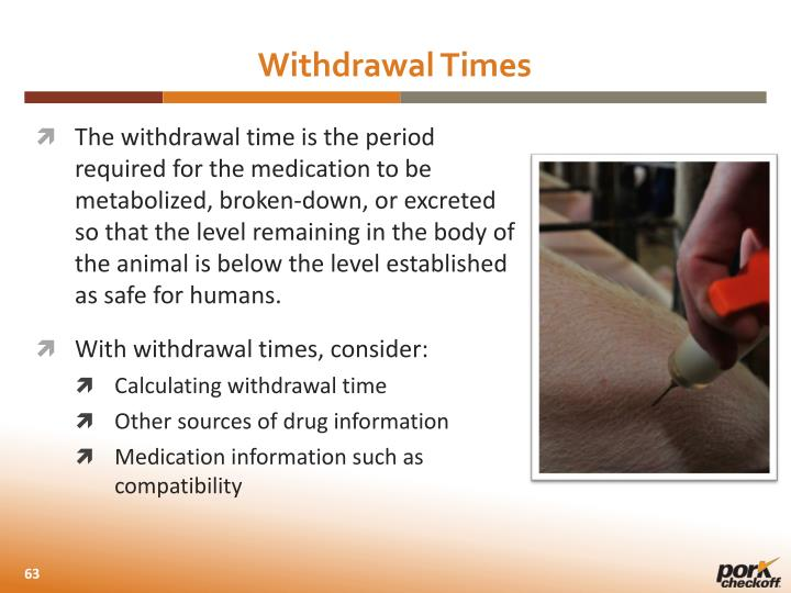 Withdrawal Times