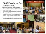 caapp asthma day 25th may 2013