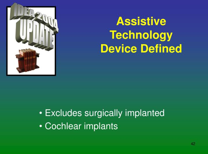 Assistive Technology Device Defined
