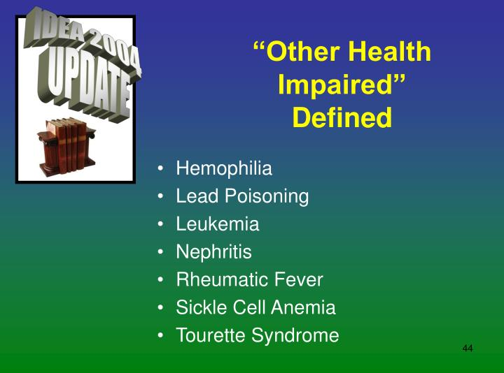 """""""Other Health Impaired"""" Defined"""