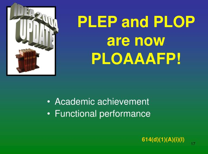 PLEP and PLOP are now PLOAAAFP!