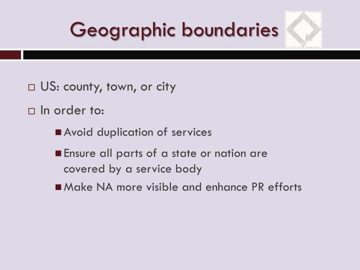 Geographic boundaries
