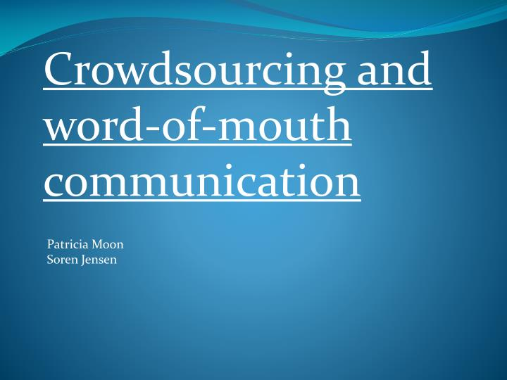 Crowdsourcing and